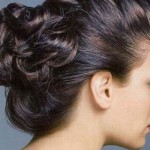 Evening hairstyle French double beam