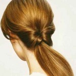 Trendy hairstyle Inside Ponytail