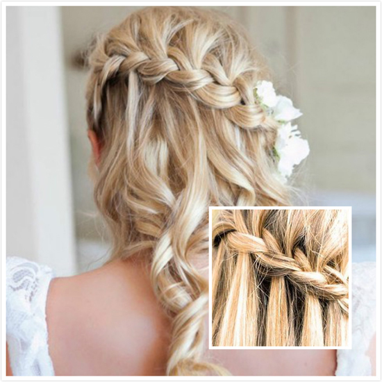 Astonishing Waterfall Braid Hairstyle Talk Hairstyles Hairstyles For Men Maxibearus