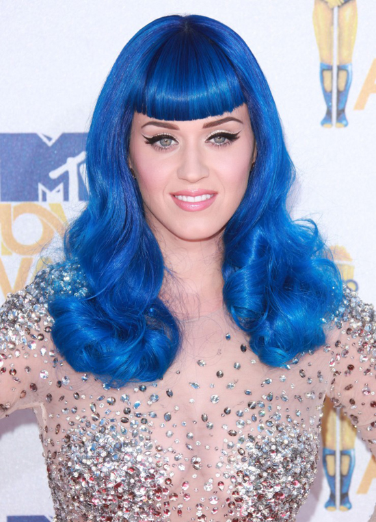 Colored hair, Katy Perry's style