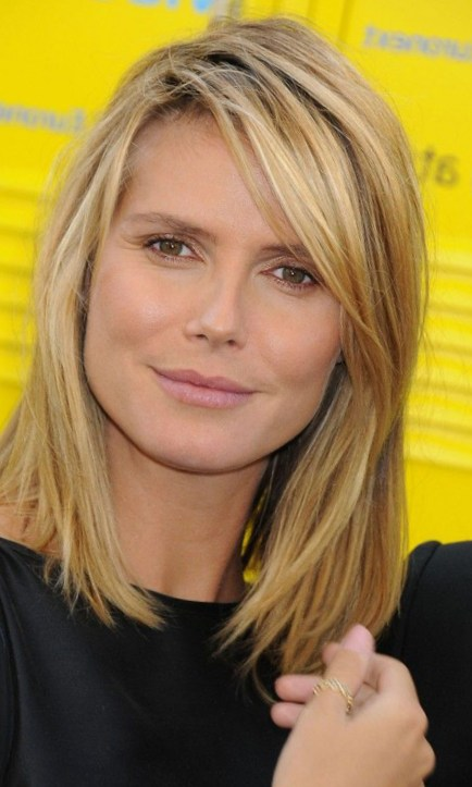 Heidi Klum Medium-length Straight Hairstyles