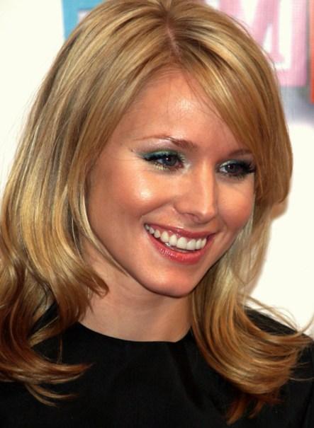 Kristen Bell Medium Wavy Cut