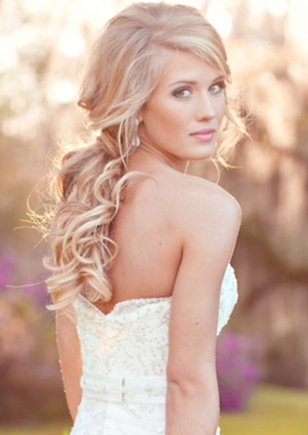 Wedding Curly Ponytail Hairstyle