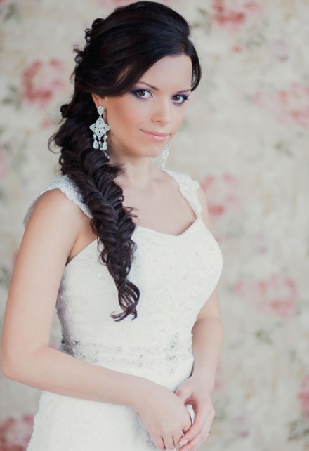 Incredible Side Braid With Curls For Wedding Braids Hairstyle Inspiration Daily Dogsangcom
