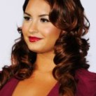 Curly & Long Hairstyles with Red Shades