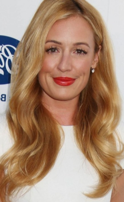 Cat Deeley With Voluminous Blonde Curls