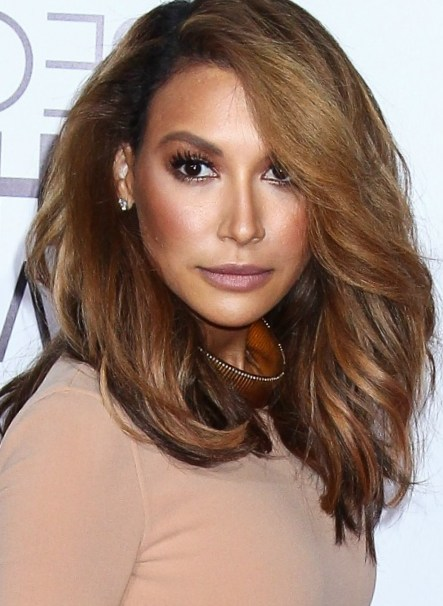 Medium Length Hairstyle Naya Rivera